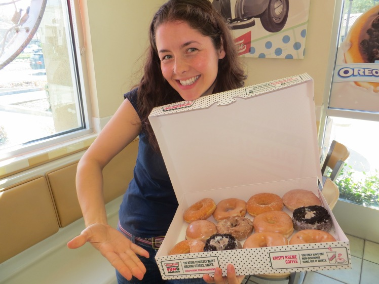 We had the American Lunch of Champions - In N Out Burgers and then a dozen Krispy Kremes
