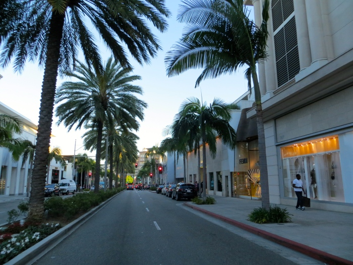 The finer side of Los Angeles County...Rodeo Drive in Beverly Hills, CA.