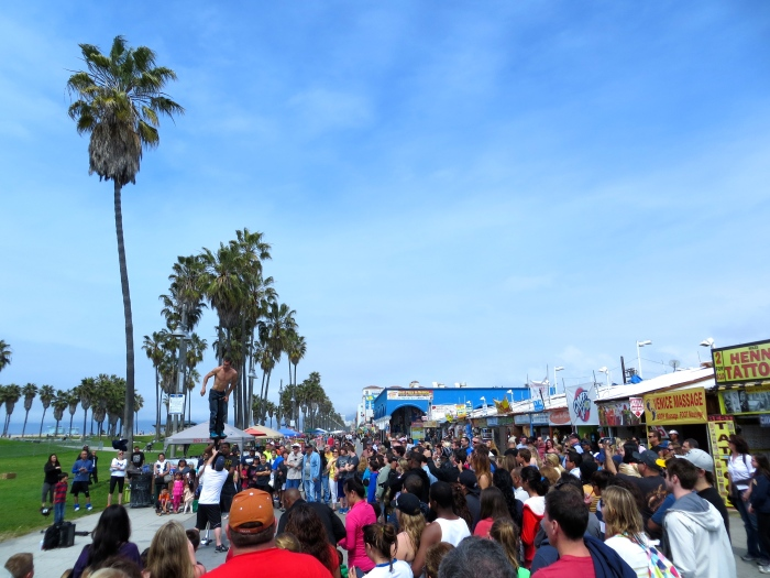 Venice Beach is THE place to people watch.