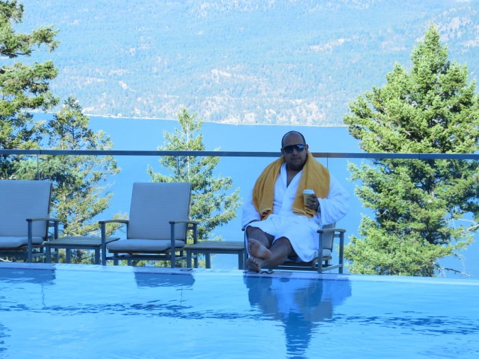 Infinity Pool at The Sparkling Hill Resort Vernon, BC