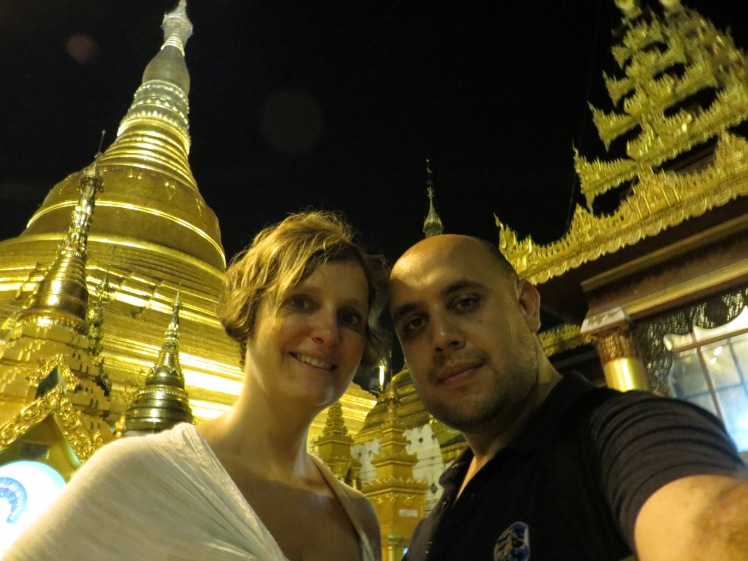 The amazing Shwedagon Pagoda in Yangon, Myanmar.