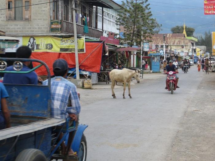 The town of Nyaung Shwe, Myanmar.