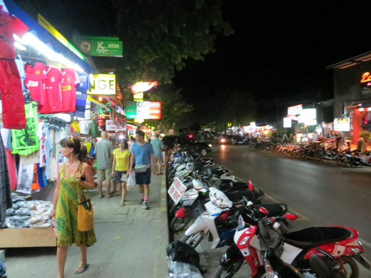 Walking the streets of Au Nang, Krabi, Thailand.