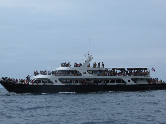 And look at some of the tour boats!  Thank goodness we were on a small speed boat with  maybe only 20 of us or so.