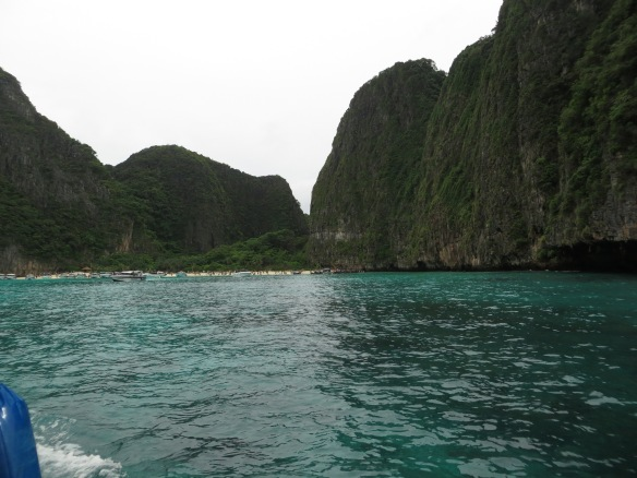 "Next stop...Maya Beach on Ko Phi Phi Don Island.  In the distance is the beach where Leonardo DiCaprio filmed the movie, ""The Beach""."