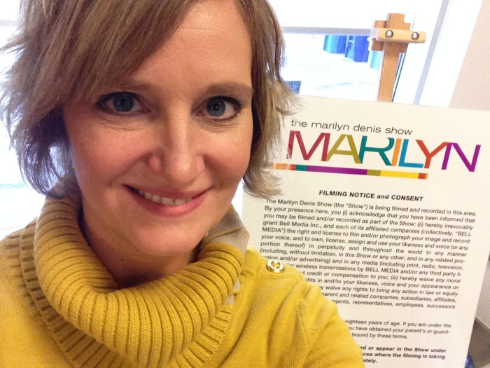 Selfie at the Marilyn Denis Show.