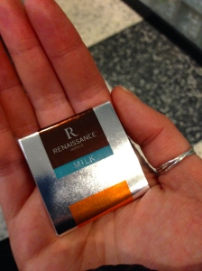 A Renaissance Hotel chocolate from my hotel room.
