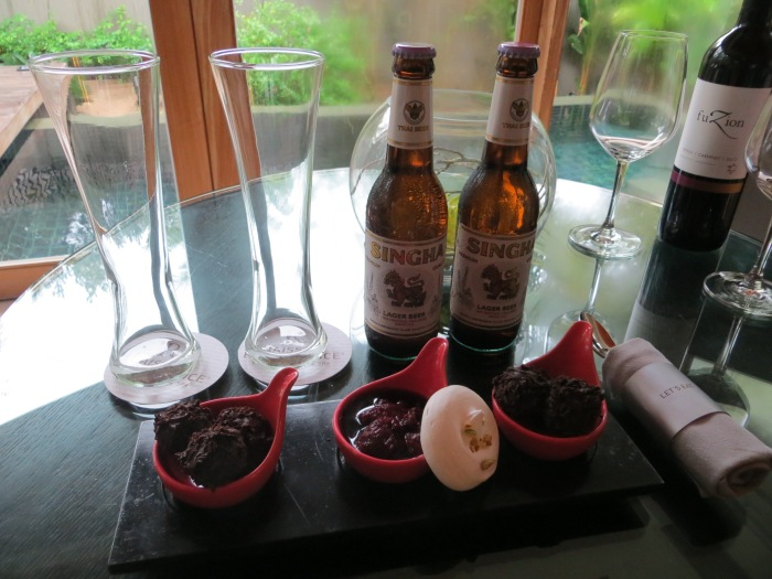 Complimentary wine, beer and chocolate truffles...Woohoo!!  (Again, visualize me bouncing off the walls)