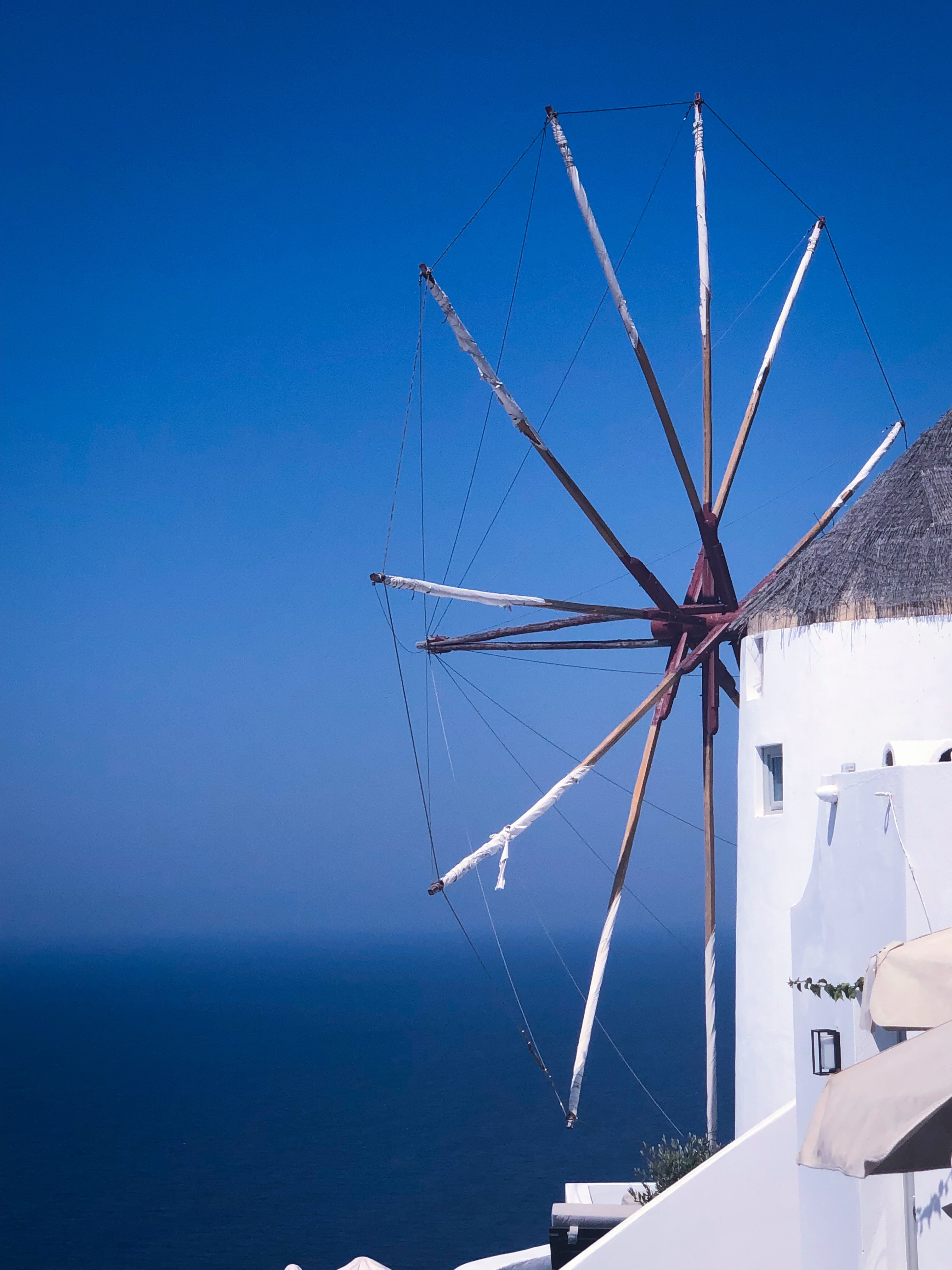 Windmill in Santorini, Greece