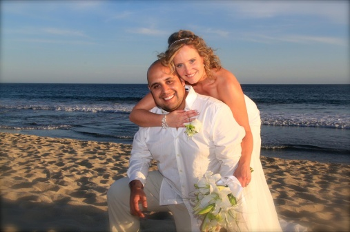 Our wedding picture on the beach in San José del Cabo.
